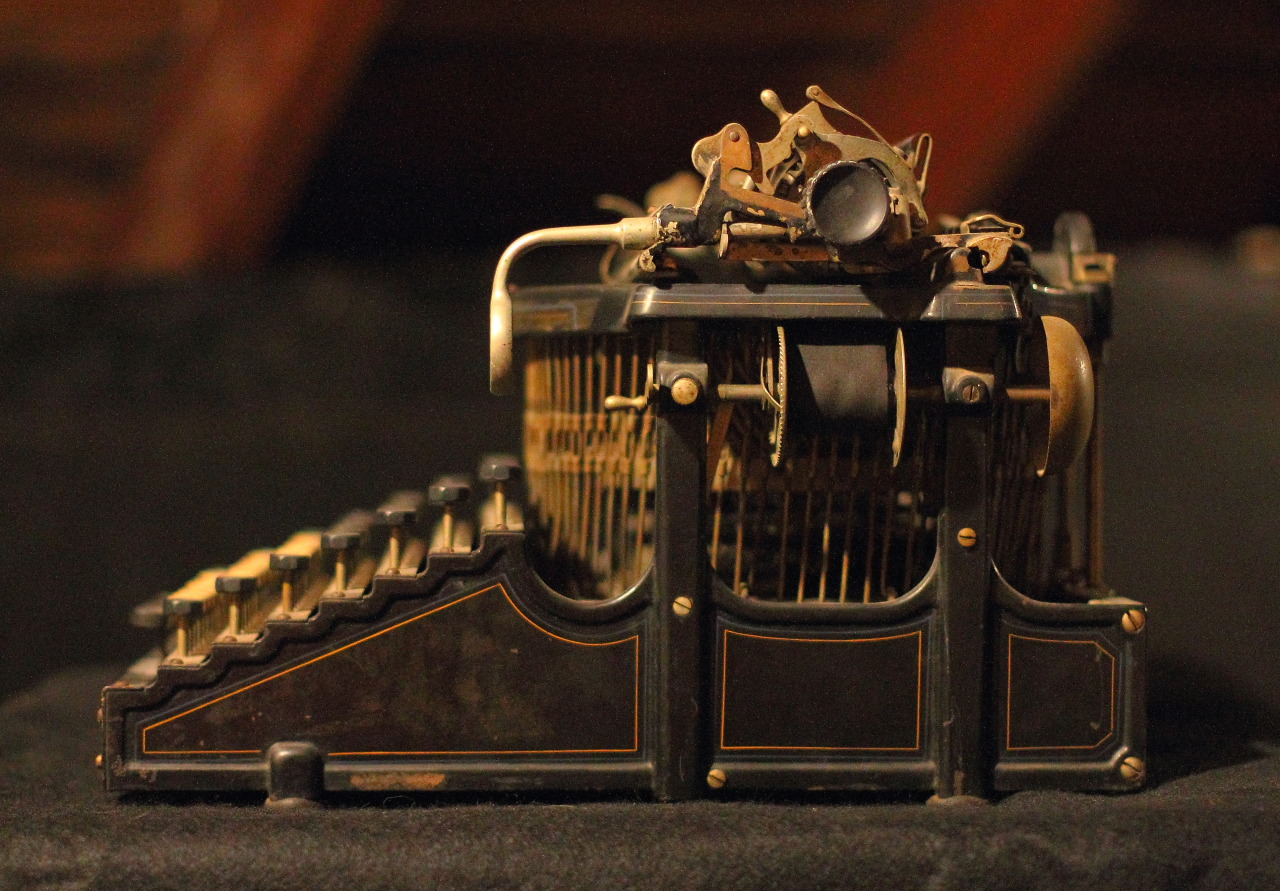 Smith Premier Typewriter No. 4 (1901).  Manufactured not far from where it now resides in Syracuse, NY.