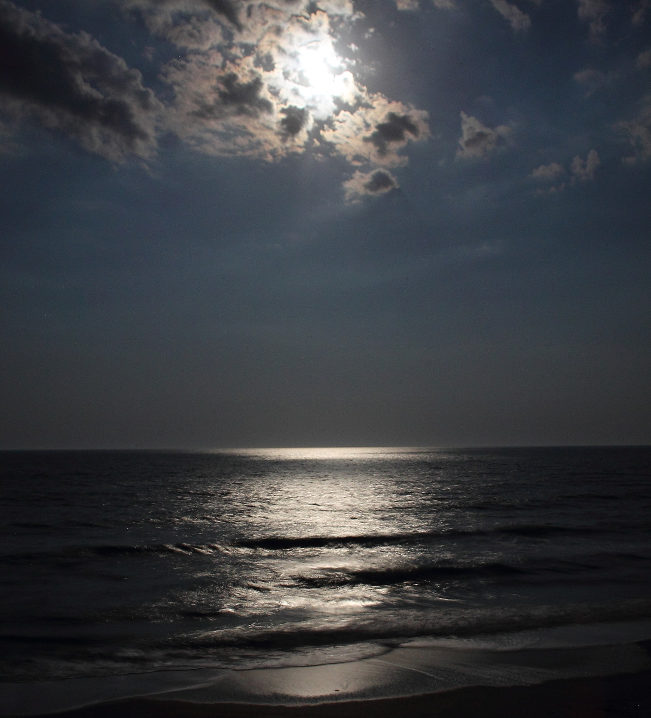 Moonlit beach, South Ponte Vedra, Florida.  2015