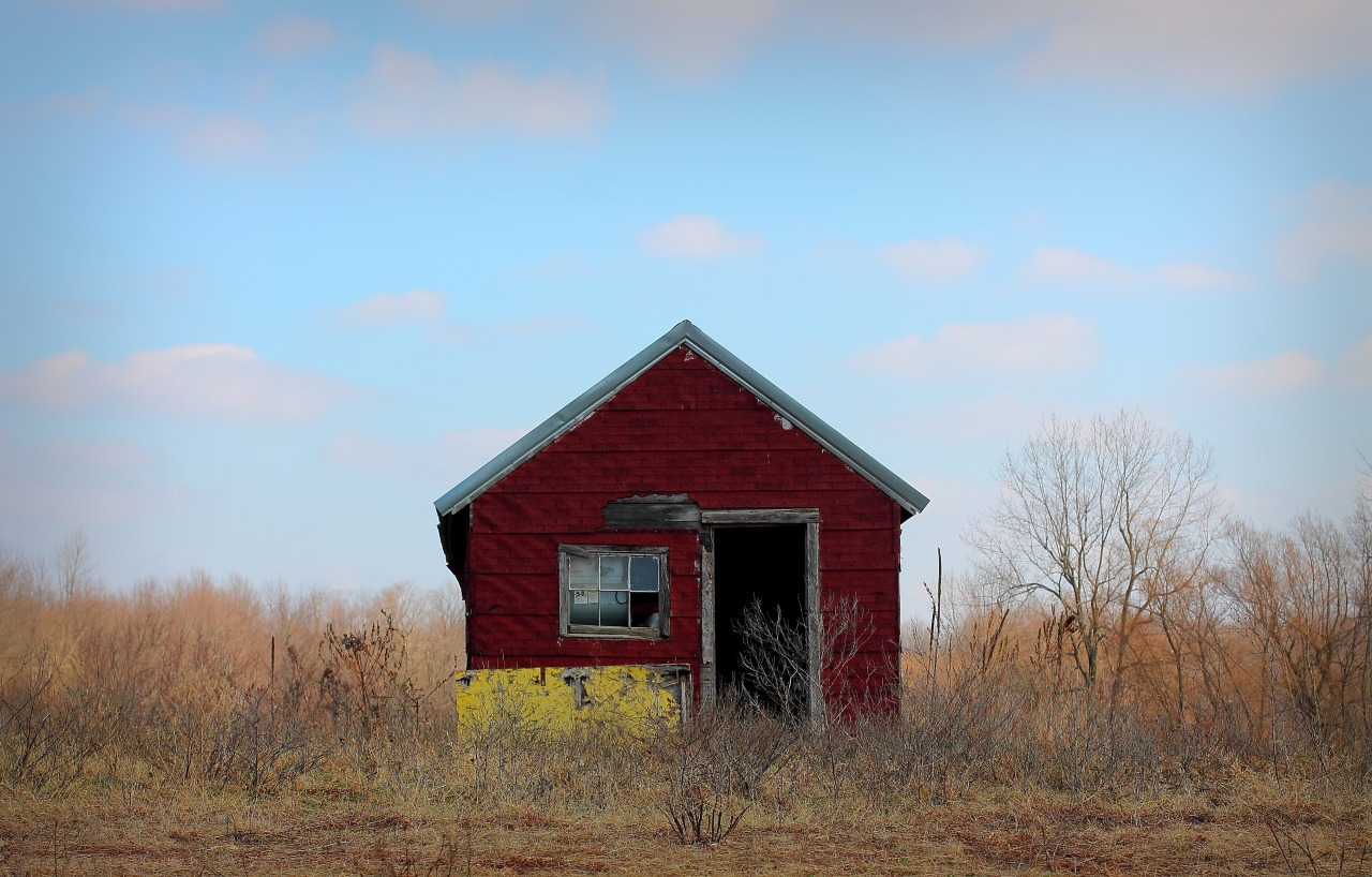 Old Shed.  Oswego County Route 7, Fairdale, New York.